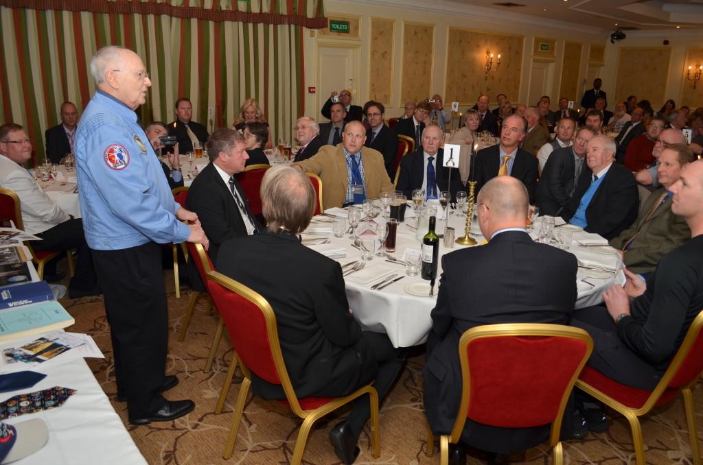 Alan Bean addresses dinner guests