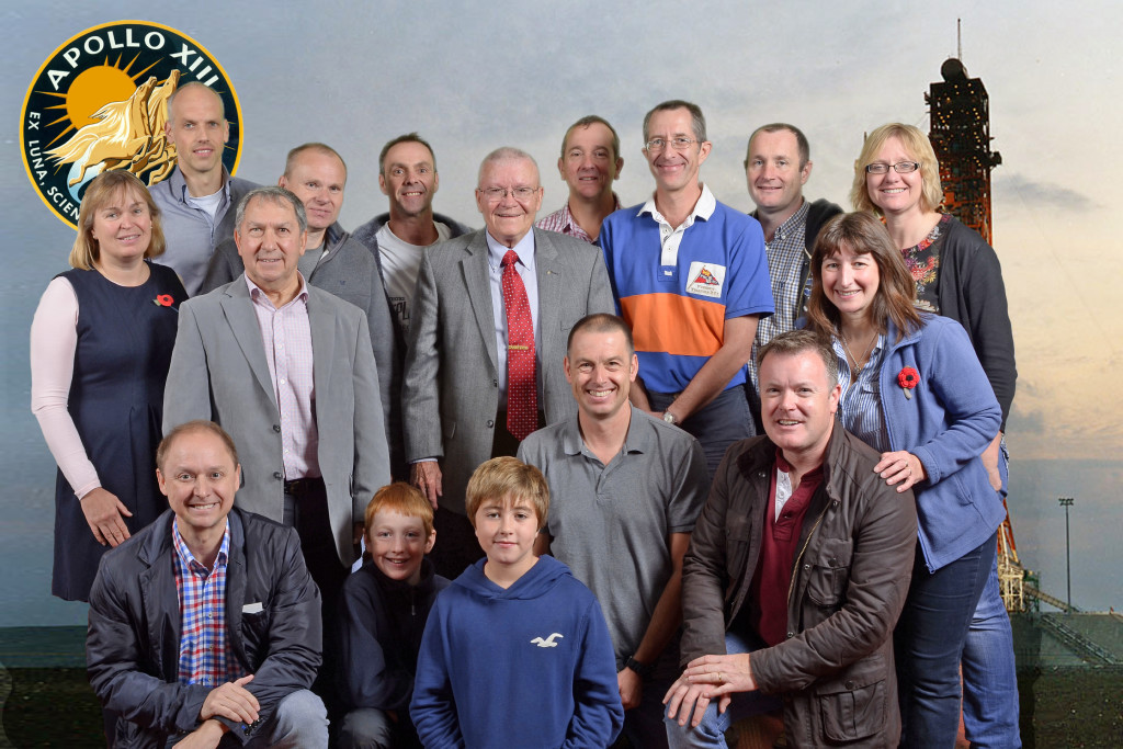 Fred Haise with BA pilots (and families)